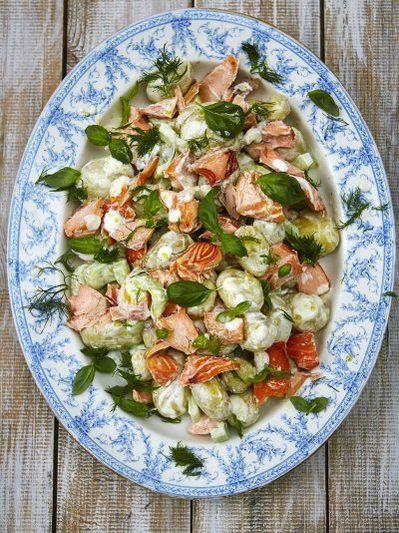Summer salmon salad
