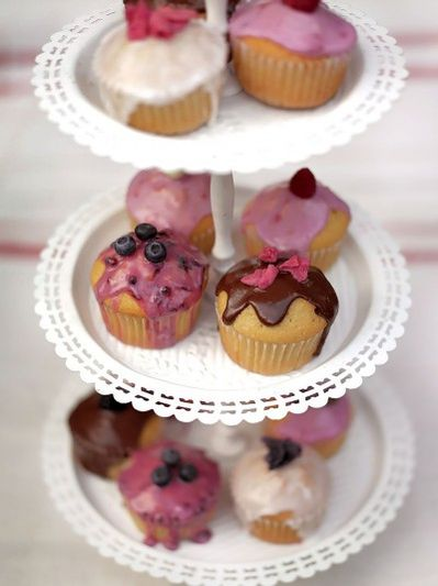 Tea party fairy cakes