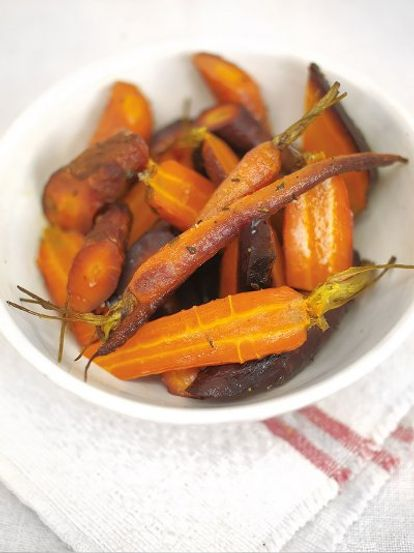 The best whole-baked carrots