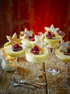 St Clement's posset with starry shortbread