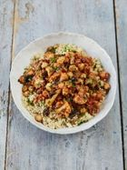 Sicilian cauliflower & chickpea stew with fluffy couscous