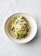 Lemony courgette linguine