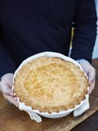 Roasted game bird pie