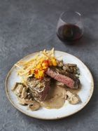 Johnny Vegas' fillet steak flambé