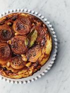Sticky onion tart