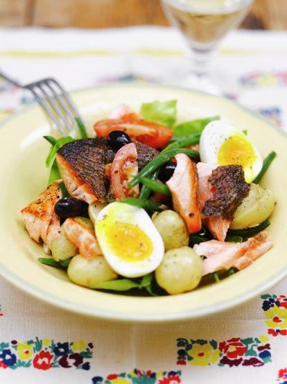 Salmon nicoise fish recipes jamie oliver salmon nicoise ccuart Choice Image
