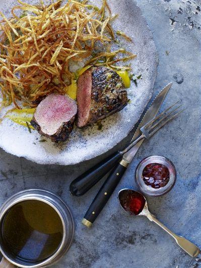 Venison steak-frites