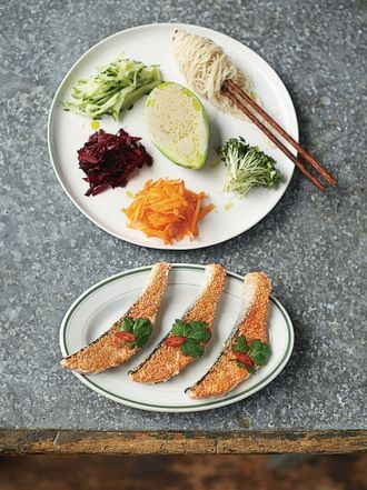 Jamies everyday super food recipes jamie oliver sesame seared salmon forumfinder Image collections