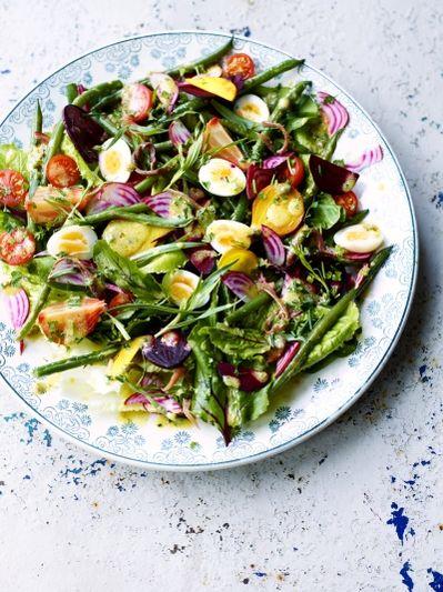 Beetroot niçoise salad