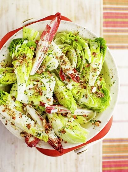 Salad wedges with buttermilk dressing