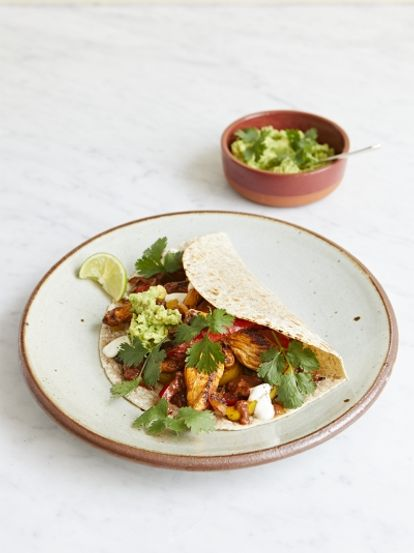 Clare's chicken fajitas with cheat's mole sauce