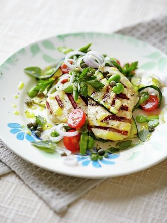 Starters recipes jamie oliver halloumi with griddled vegetables forumfinder Gallery