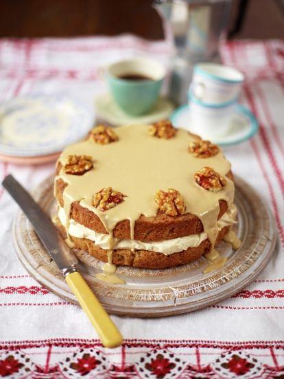 The Best Coffee Walnut Cake