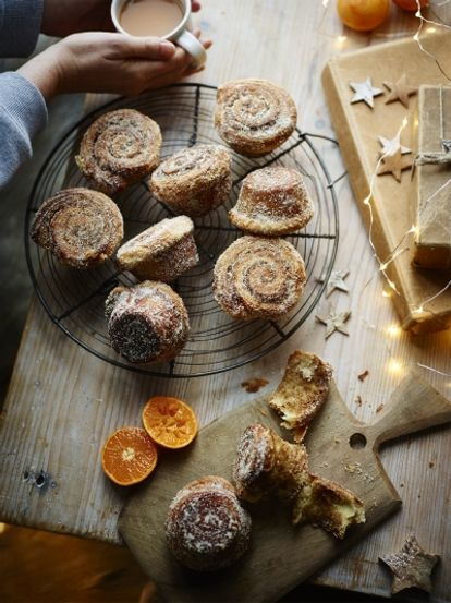 Cardamom clementine morning buns
