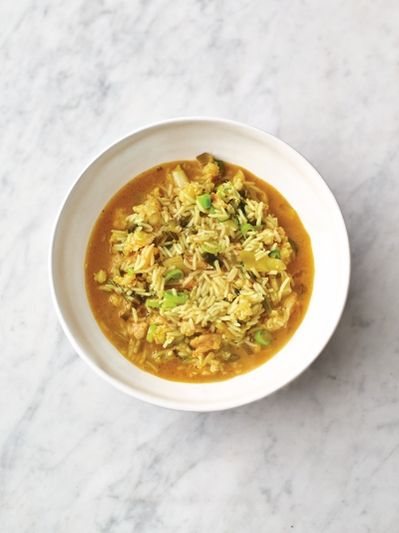 Speedy spiced prawn soup