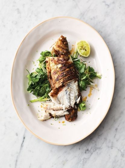 Thai-style crispy sea bass