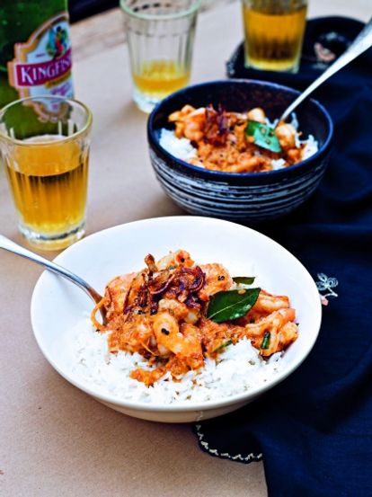 Malabar prawn curry