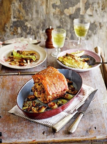 Pork with apple & herb stuffing