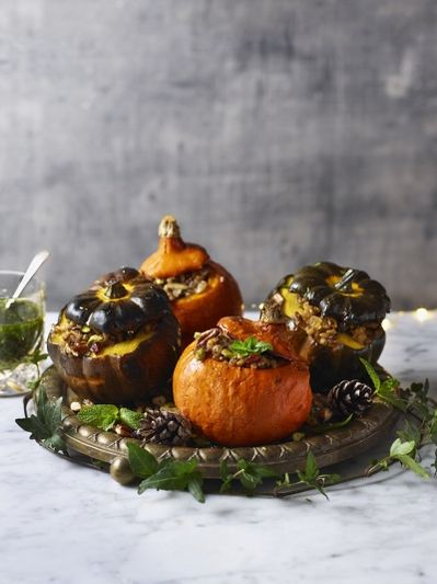 Stuffed roast squash