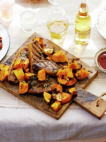 Grilled picanha with butternut squash