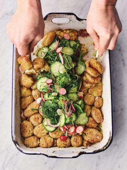 Roast New Potato Pickle Salad