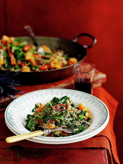 Fried rice with kale squash chestnuts rice recipes jamie oliver fried rice with kale squash chestnuts ccuart Choice Image