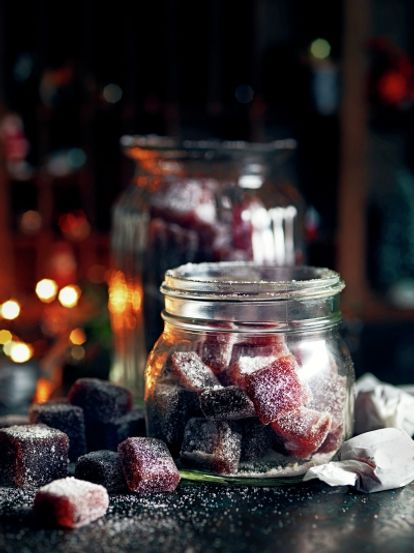 Mulled wine jelly sweets