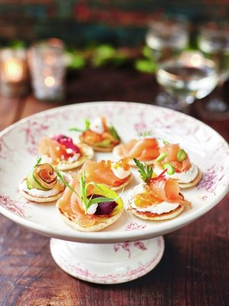 Party food jamie oliver smoked salmon blinis forumfinder Image collections