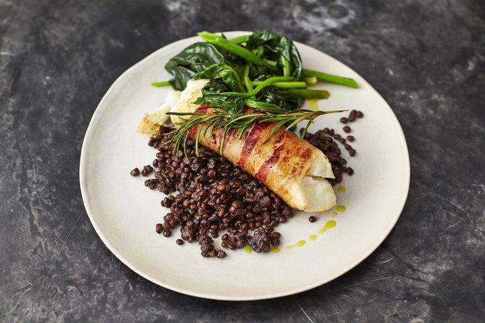 Smoky pancetta cod: Jamie Oliver