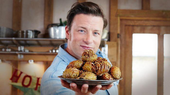 Christmas hasselback potatoes: Jamie Oliver
