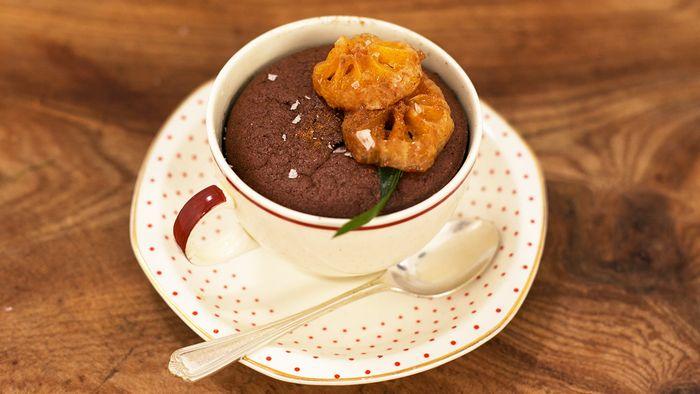 Christmas chocolate puddings: Gennaro Contaldo