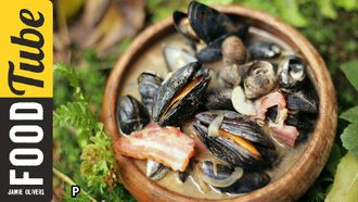 Mussel & bacon stew: River Cottage