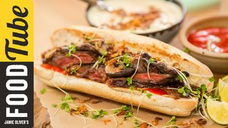 Japanese steak sandwich: Food Busker & Brothers Green Eats