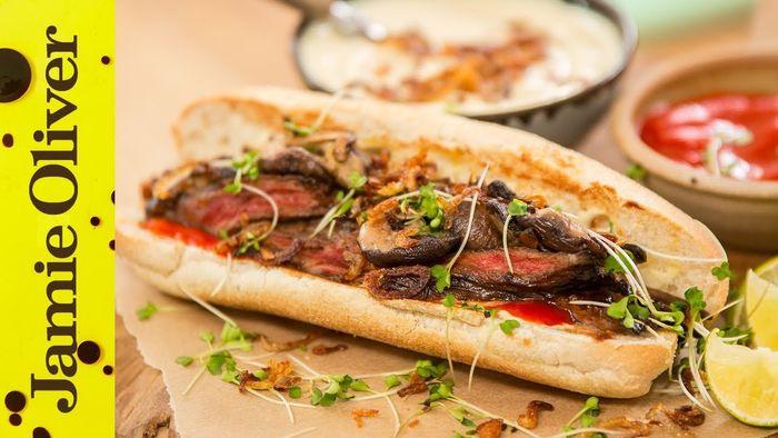 Japanese steak sandwich: Food Busker & Brothers Green Eats