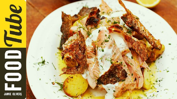 Mouth-Watering Fennel Crusted Salmon by Jamie Oliver