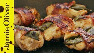 Chicken bites with bacon & sage: Gennaro Contaldo