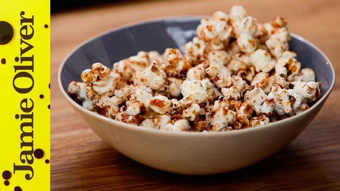 100 calorie popcorn snack: Jamie Oliver