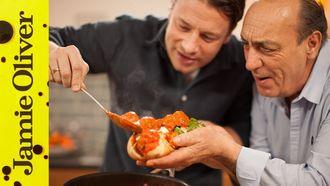Meatball sub: Gennaro Contaldo & Jamie Oliver