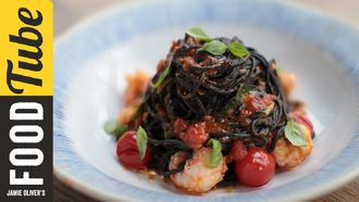 Squid ink spaghetti: Jamie Oliver & Gennaro Contaldo