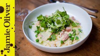 Pea and ham orzo: Sortedfood