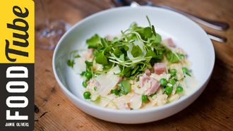 Pea and ham orzo: Sortedfood