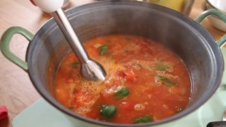 Tomato soup: Jamie's Food Team