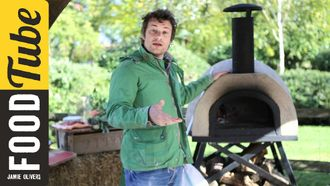How to cook pizza in a wood fired oven: Jamie Oliver
