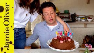 Homemade celebration cake