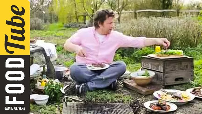 Jamie Oliver's lovely BBQ steak sandwich