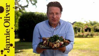 Halloumi skewers: Jamie Oliver