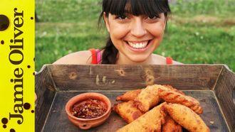 Spicy beef empanadas: Felicitas Pizarro