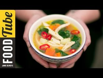 Healthy chicken & vegetable soup: Kerryann Dunlop