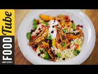 Moroccan prawns with fluffy couscous: DJ BBQ