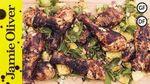 Jerk chicken with pineapple salsa: DJ BBQ & Bondi Harvest